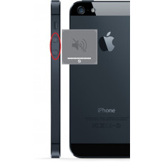 iphone 5 Volume knap udskiftning reparation billig pris